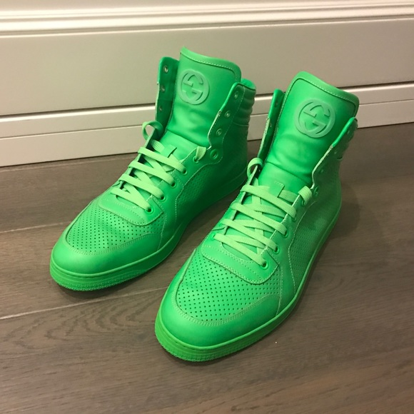 d6878901f Gucci Shoes | Neon Green Sneakers | Poshmark